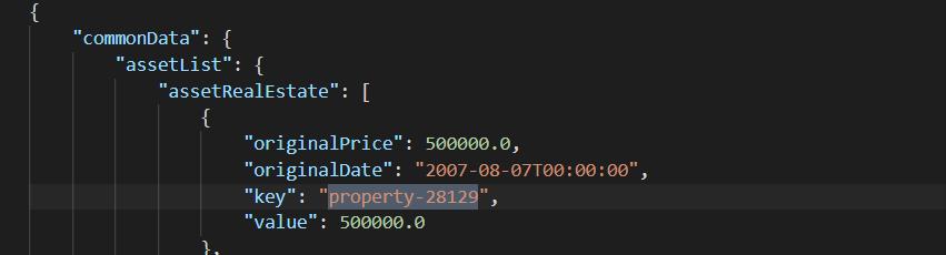 property key sample
